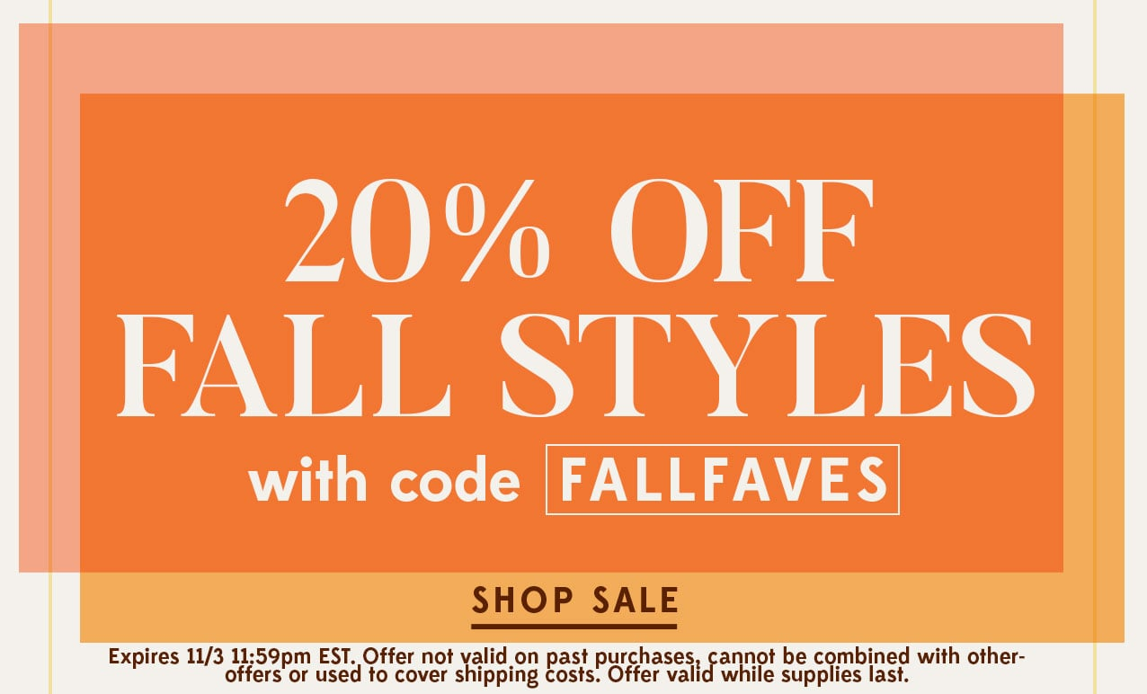20% Off Fall Styles