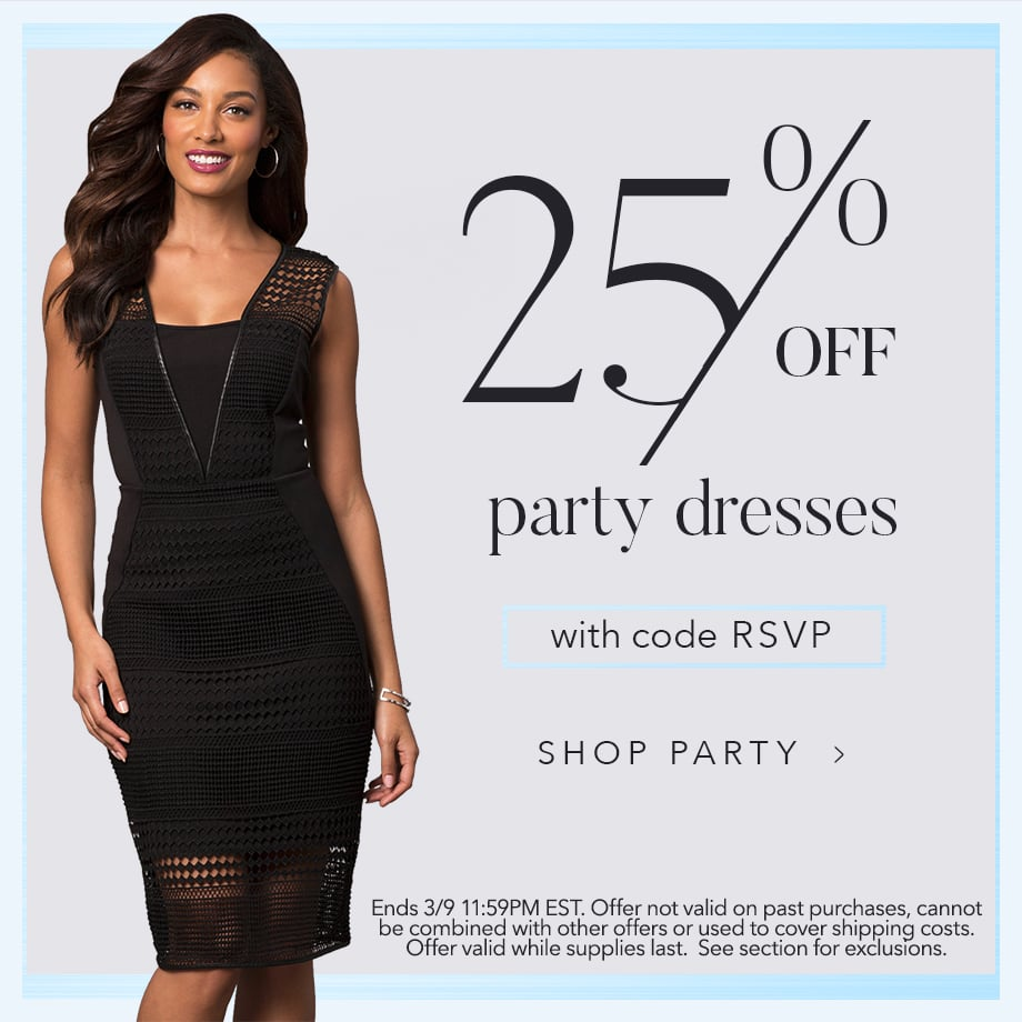 25% Off Party Dresses