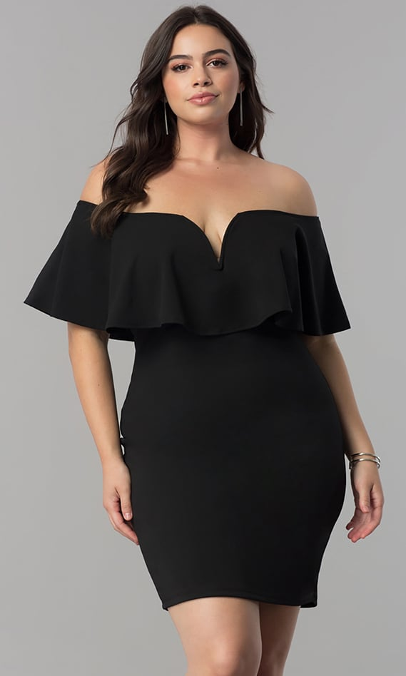 Dresses formal prom dresses evening wear at simply dresses for Plus size black dresses for weddings
