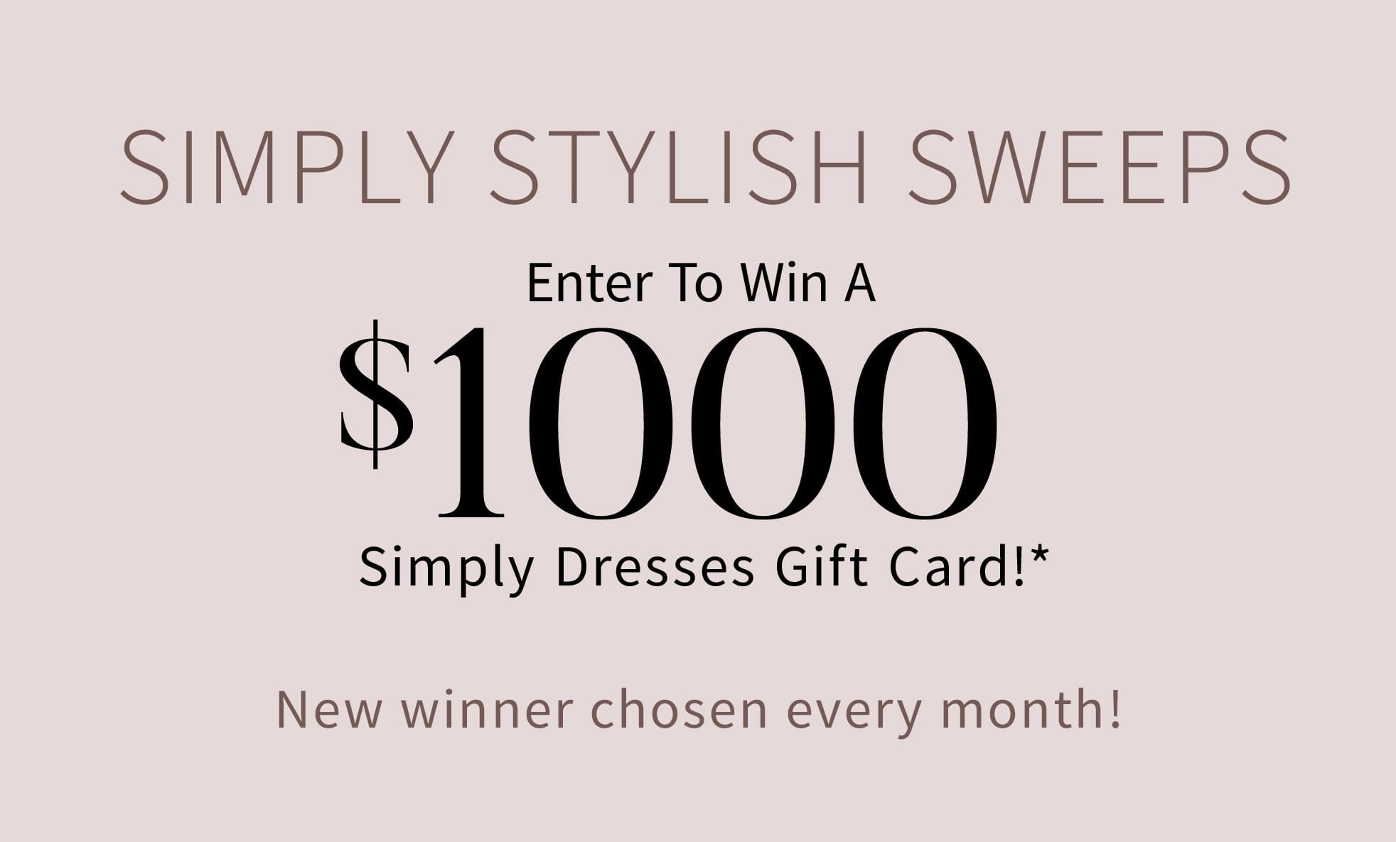 Simply Stylish Sweeps